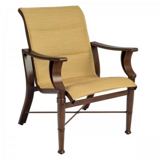 Arkadia Padded Sling Dining Arm Chair