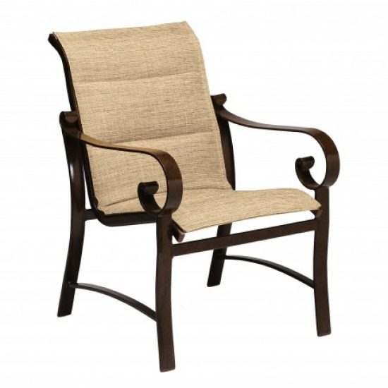 Belden Padded Sling Dining Arm Chair