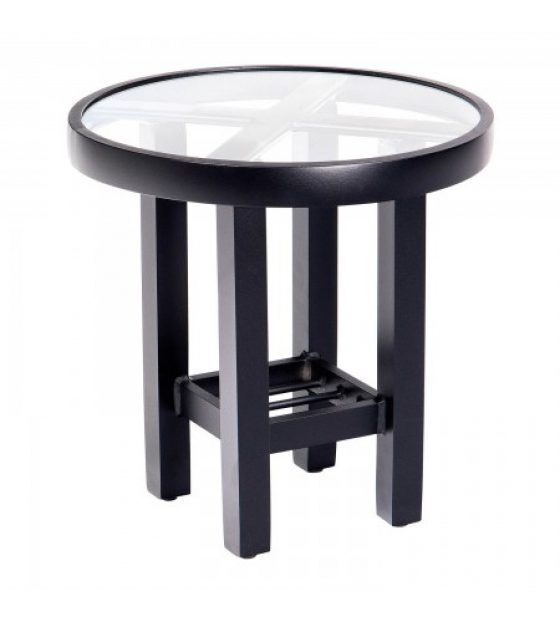 Palm Coast 18u2033 Round End Table With Clear Glass