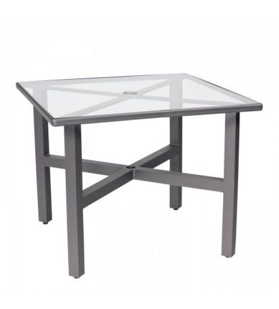 Palm Coast 36u2033 Square Umbrella Table With Clear Glass