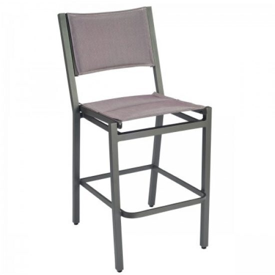 Palm Coast Padded Sling Bar Stool Without Arms