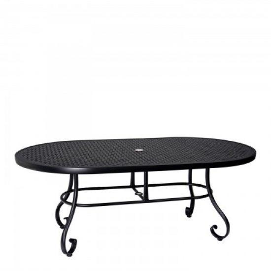"Ramsgate 42"" X 74"" Oval Umbrella Table - Lattice"