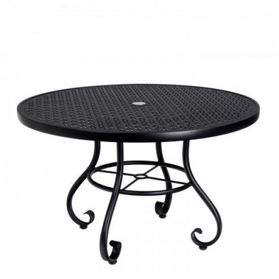 "Ramsgate 48"" Round Umbrella Table - Lattice"