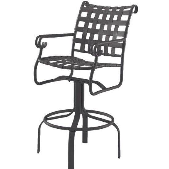Ramsgate Strap Swivel Bar Stool With Arms