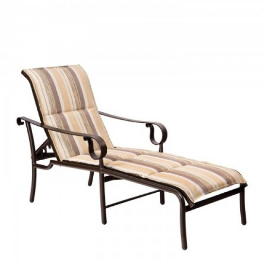 Ridgecrest Padded Sling Adjustable Chaise Lounge