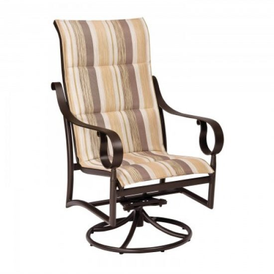 Ridgecrest Padded Sling High-Back Swivel Rocker