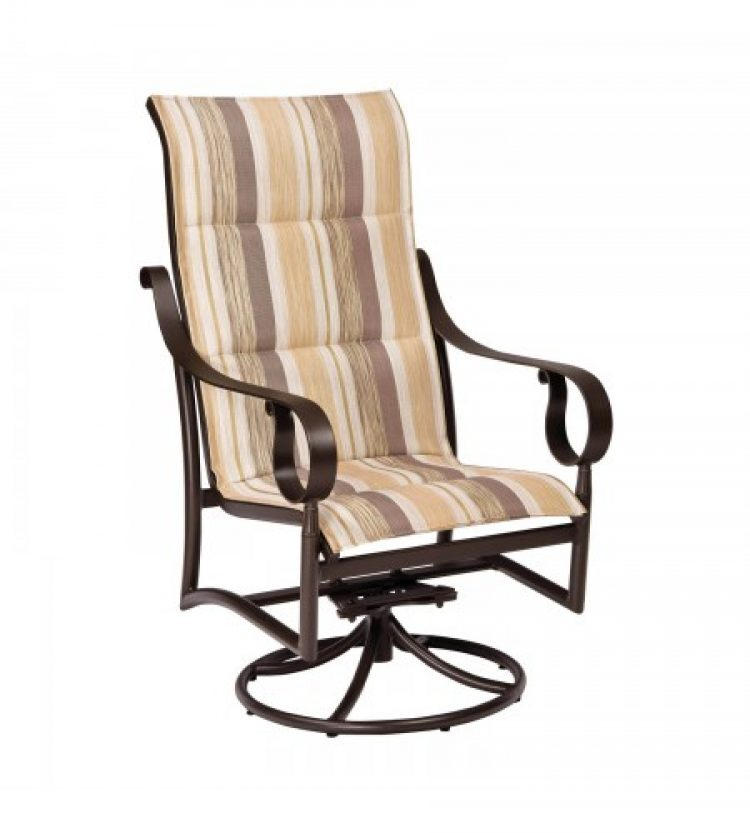 ridgecrest padded sling high back swivel rocker