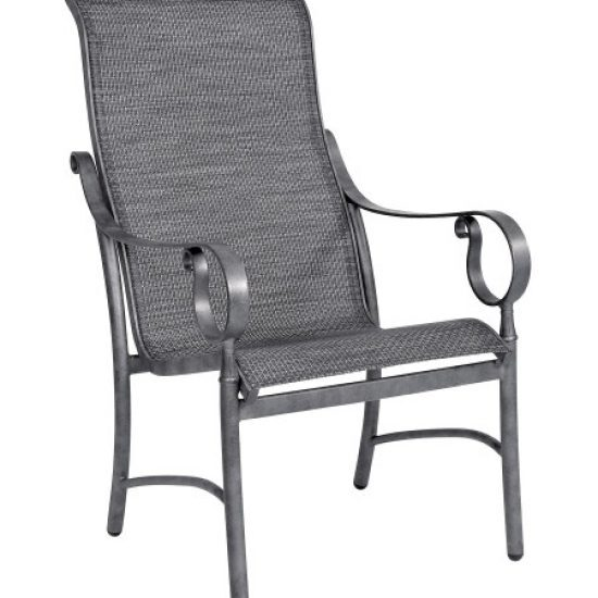 Ridgecrest Sling High-Back Dining Arm Chair