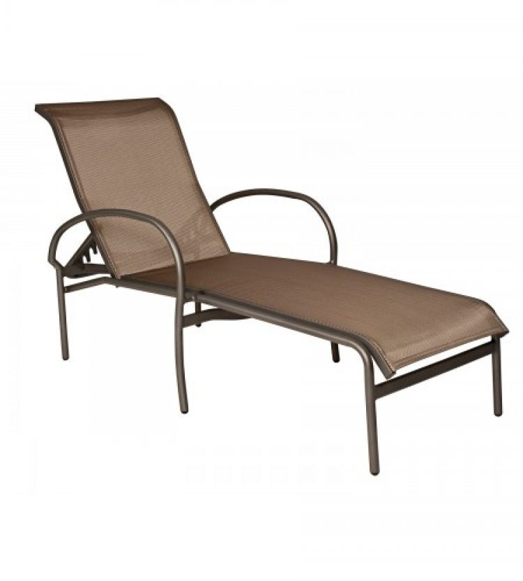 rivington sling adjustable chaise lounge stackable