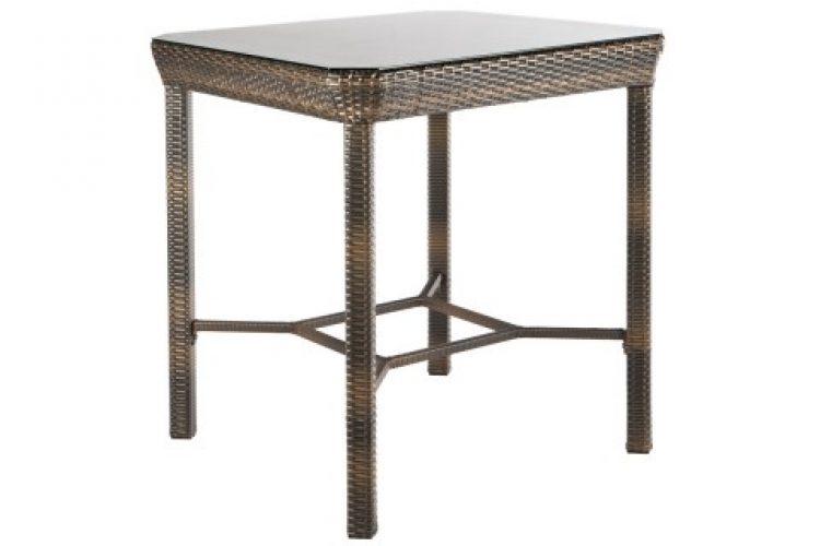 tutto 36 square bar table with umbrella hole