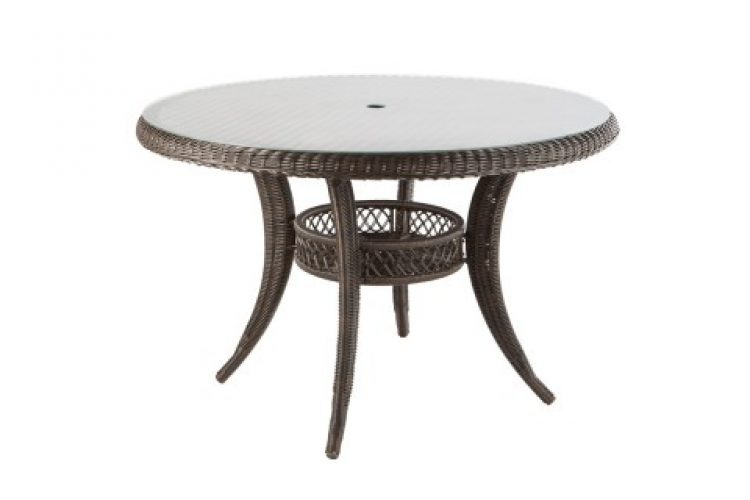 tutto 48 round dining table with umbrella hole