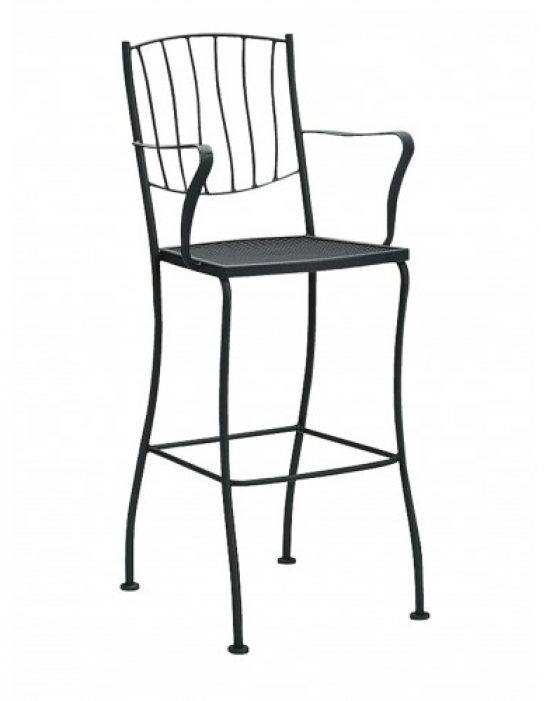 Aurora Stationary Bar Stool - Arm