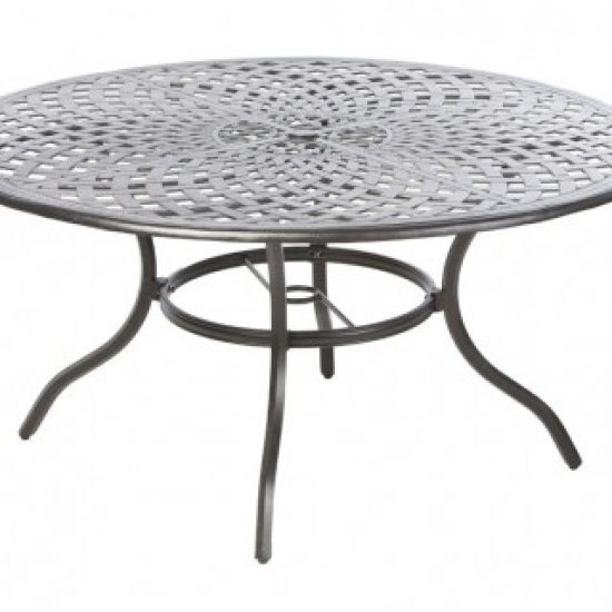 "BAY LEAF 60"" ROUND DINING TABLE W/ UMB. HOLE"