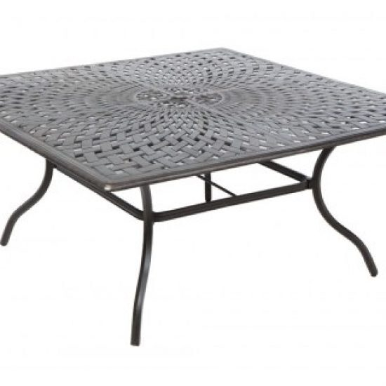 "BAY LEAF 64"" SQUARE DINING TABLE W/ UMB. HOLE"