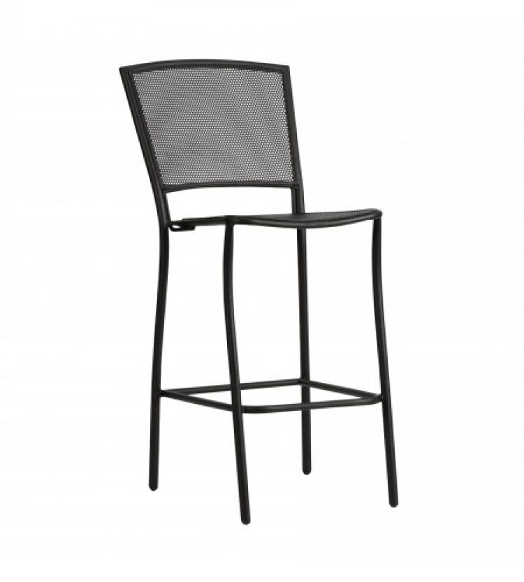 cafe series albion textured black stationary bar stool