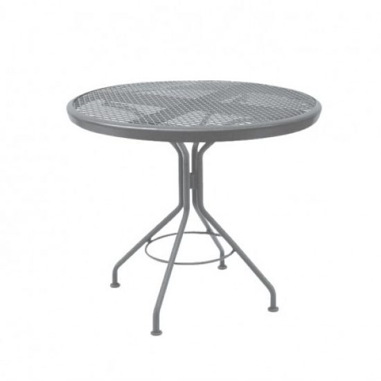 "Café Series Mercury Contract + 30"" Round Mesh Top Bistro Table"