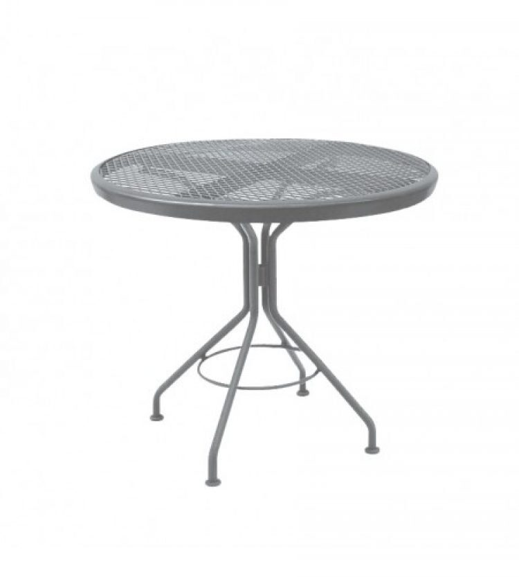 cafe series mercury contract + 30 round mesh top bistro table