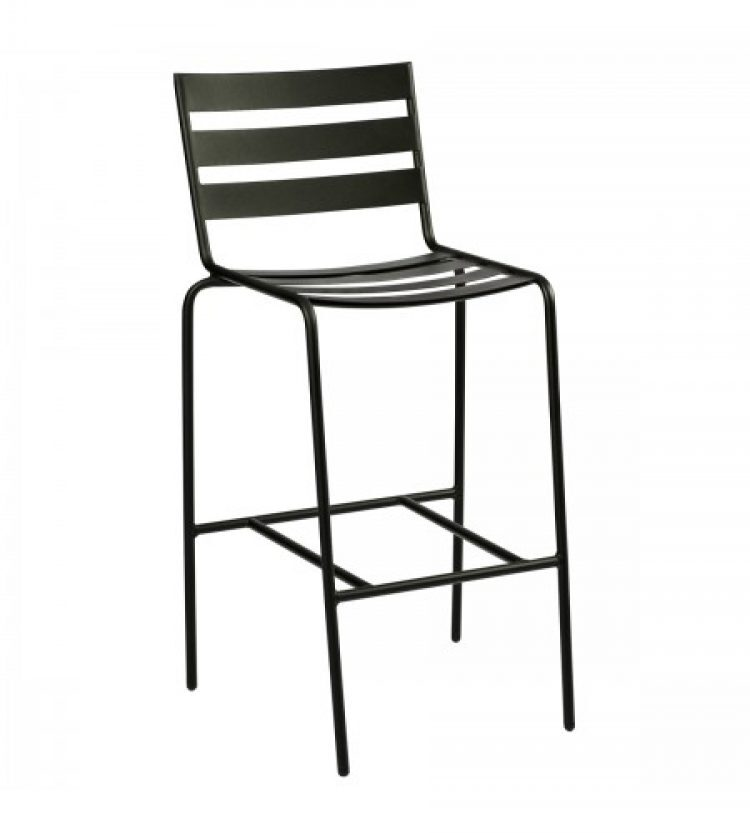 cafe series metro textured black stationary bar stool