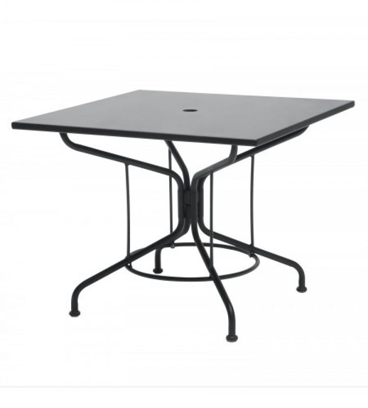 cafe series textured black 36 square solid top umbrella table
