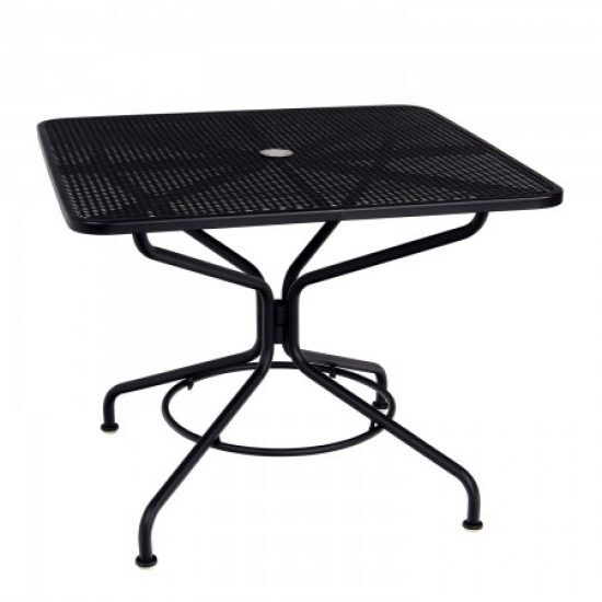 "Café Series Textured Black + 36"" Square Dining/Umbrella Table"