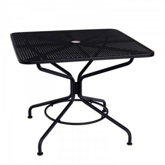 "Café Series Textured Black + 36"" Square Dining/Umbrella Table"