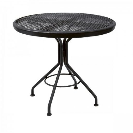 "Café Series Textured Black Contact + 30"" Round Bistro Table"