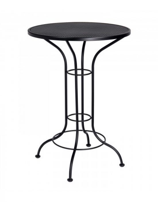 "Mesh Top 30"" Round Bar Height Table"