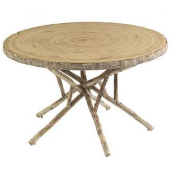 "River Run 48"" Round Birch Heartwood Dining Table"