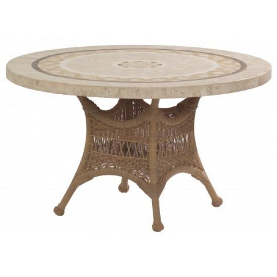 "Sommerwind 48"" Round Stone Top Umbrella Table"