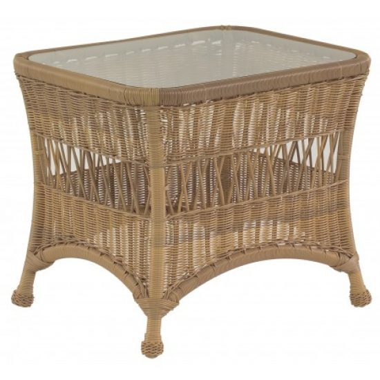 Sommerwind End Table With Glass Top