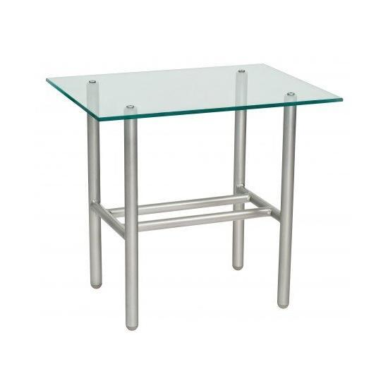 Uptown Glass Top End Table