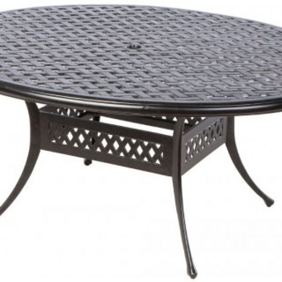 """WEAVE 70"""" OVAL EGG DINING TABLE WITH UMBRELLA HOLE"""