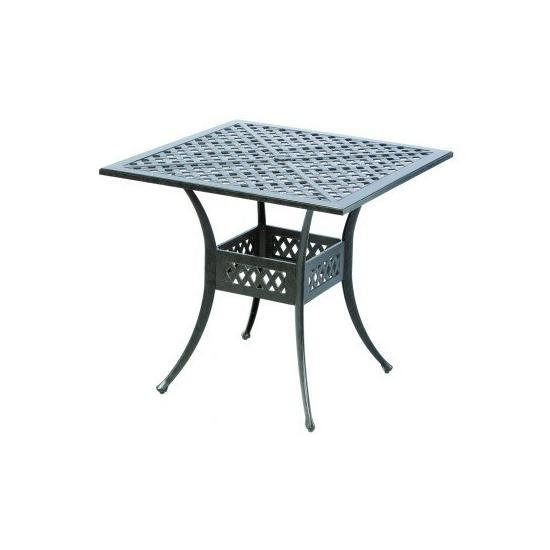 """WEAVE INJECTION 40"""" SQUARE BAR TABLE WITH UMBRELLA HOLE"""