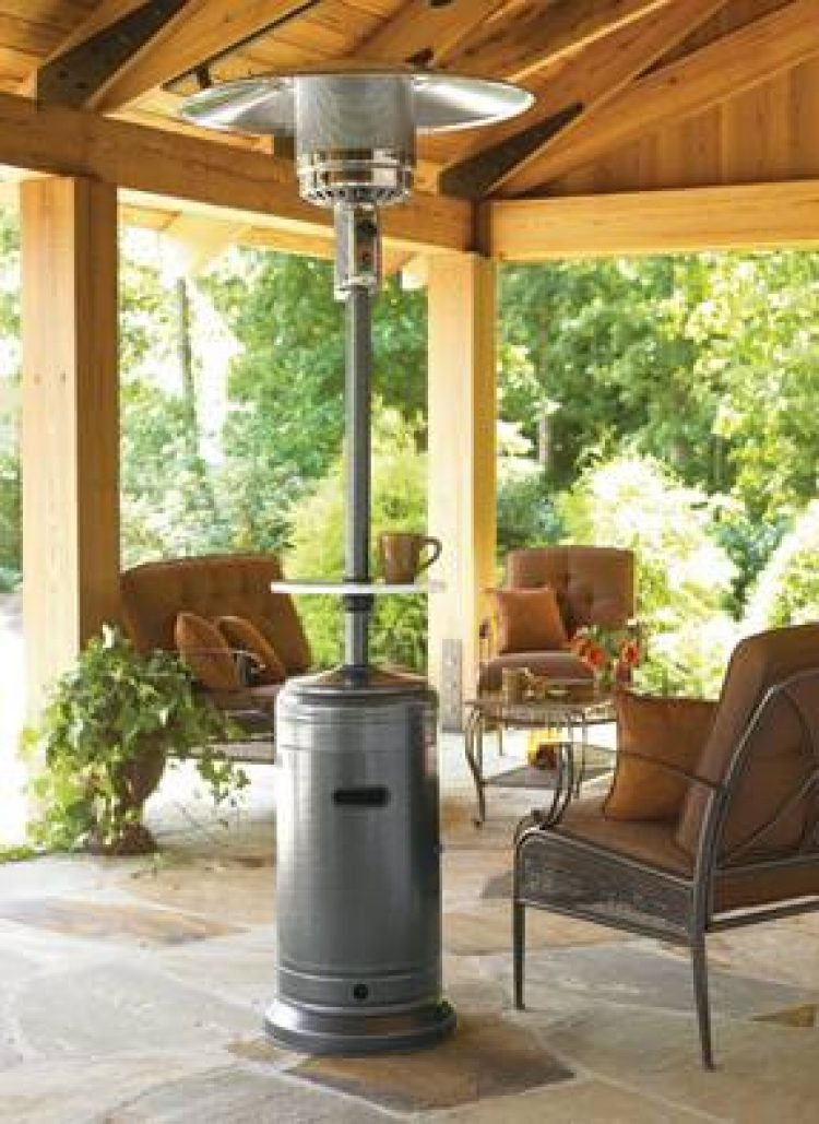 87″ Tall Hammered Silver Outdoor Patio Heater 1