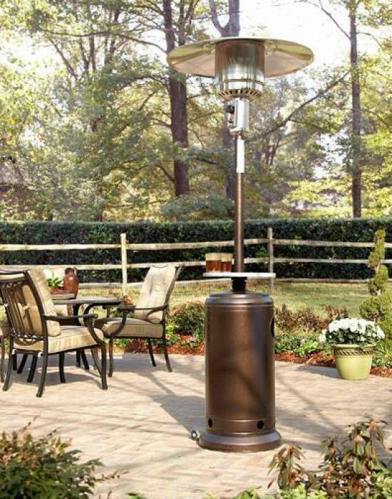 """87"""" Tall Hammered Bronze Patio Heater (Access Door Design)"""