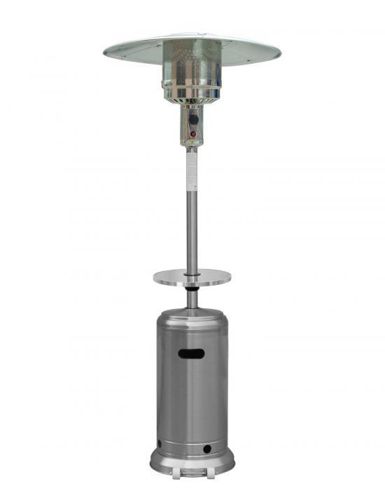 """87"""" Tall Stainless Steel Outdoor Patio Heater with Table"""