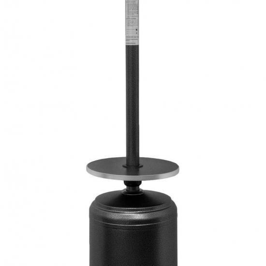 "87"" Tall Matte Black Outdoor Patio Heater"