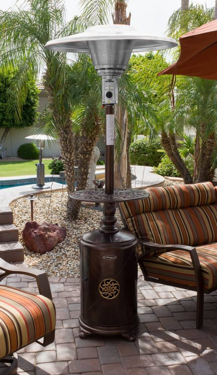 87″ Hammered Bronze Cast Aluminum Patio Heater 1