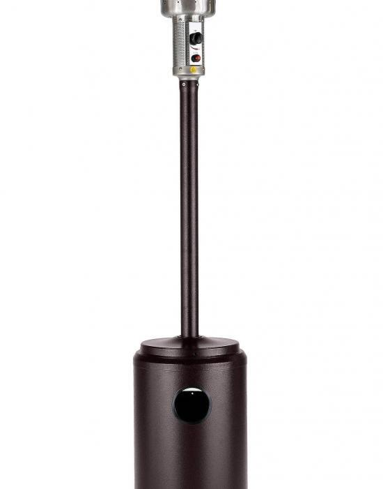 """93"""" Tall Commercial Patio Heater (Hammered Black)"""