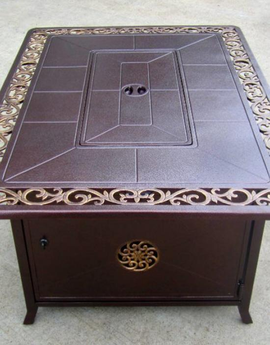Decorative Firepit with Scroll Design