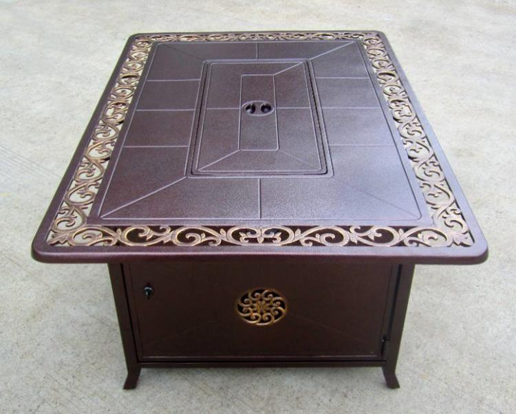 Decorative Firepit with Scroll Design 1