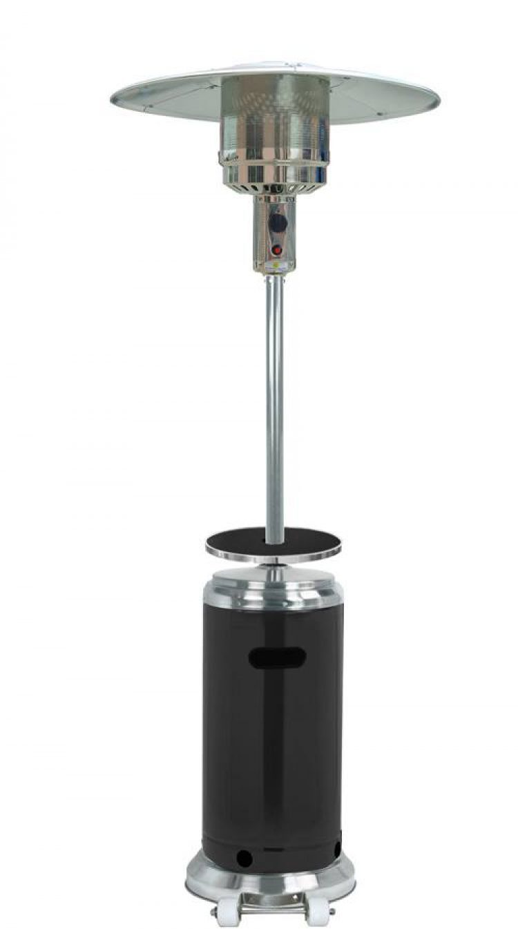 87″ Tall Stainless Steel and Black Outdoor Patio Heater 1