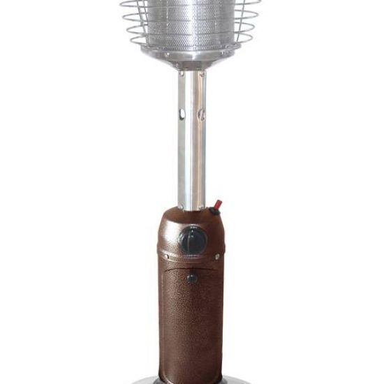 Hammered Bronze and Stainless Steel Tabletop Heater