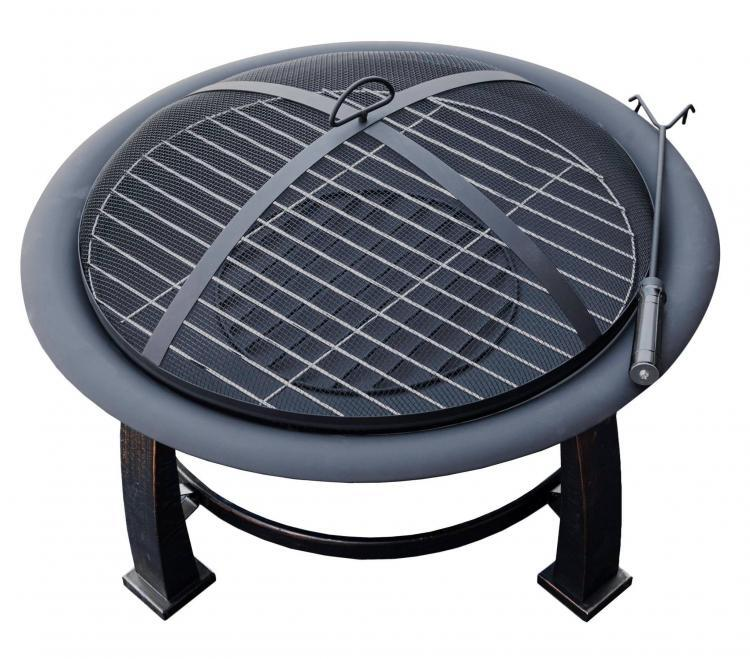 30″ Wood Burning Firepit with Cooking Grate 1