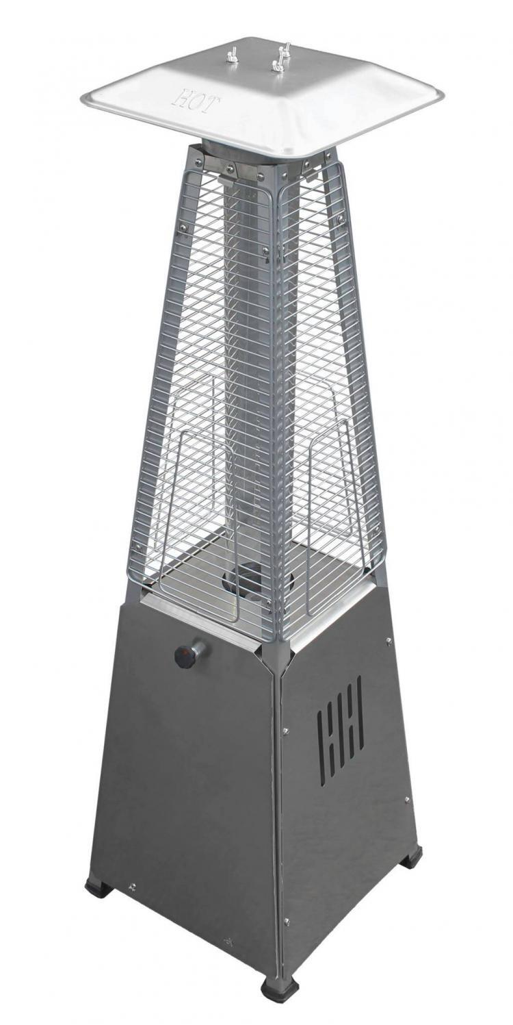 39″ Tall Radiant Heat Glass Tube Outdoor Patio Heater (Stainless Steel) 1