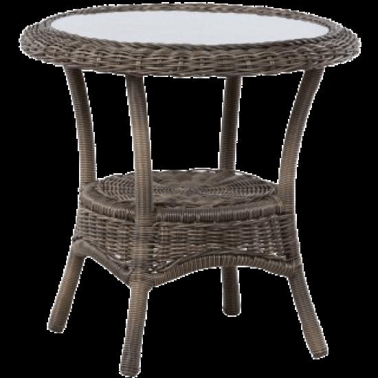 "BAINBRIDGE BARK 24"" ROUND SIDE TABLE"
