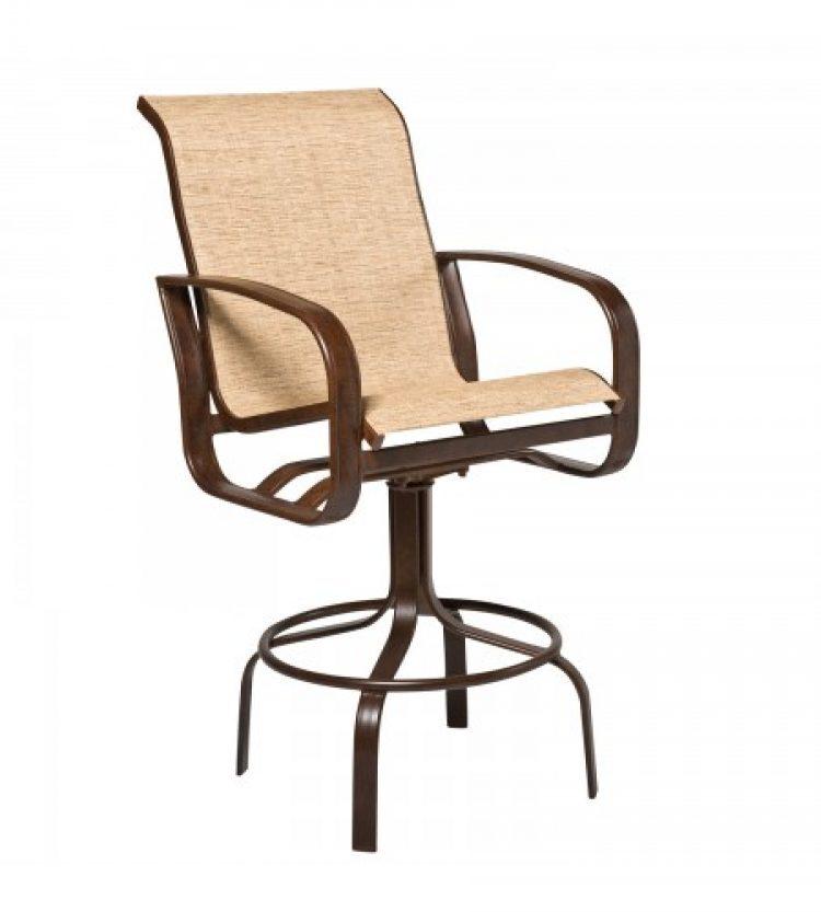 CI sling swivel bar stool