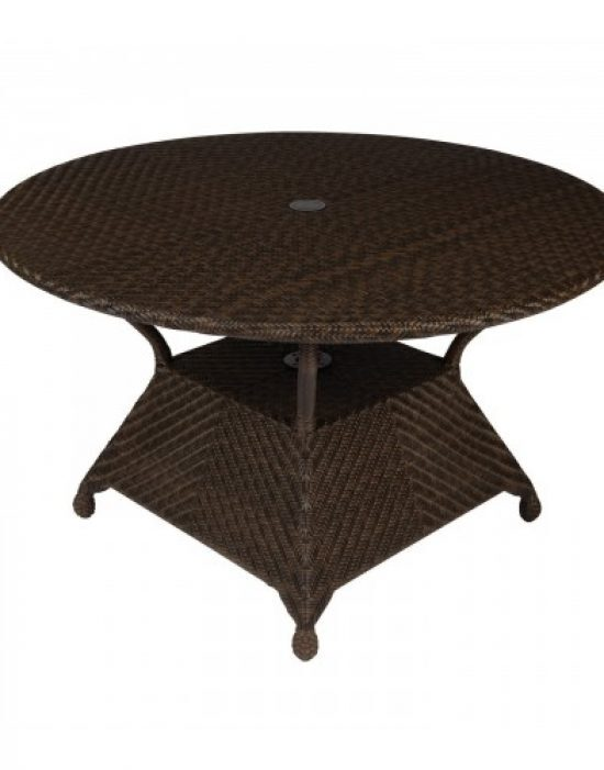 """All-Weather 48"""" Round Umbrella Dining Table"""