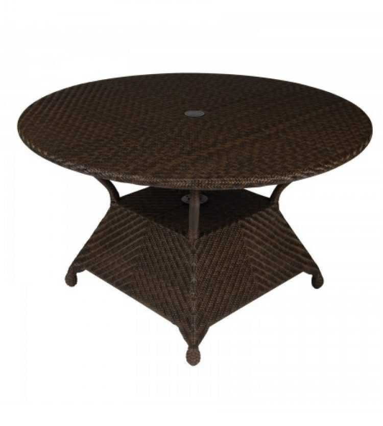 all weather 48 round umbrella dining table