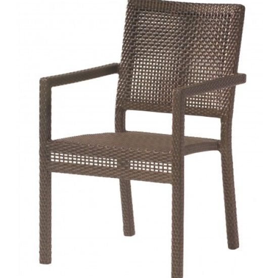 All-Weather Miami Dining Arm Chair - Stackable